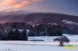 Zima w Zubrzycy Górnej